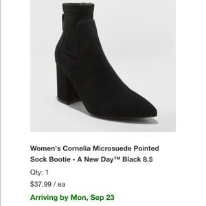 Ankle booties new without tags. Never worn
